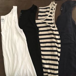 Gap and old navy 4 for $20 ribbed tanks.